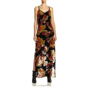 Band of Gypsies velvet floral textured maxi dress.